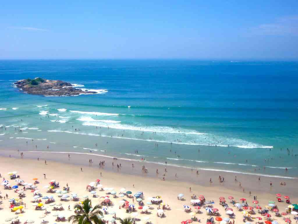 Beach in Guarujá, Brazil
