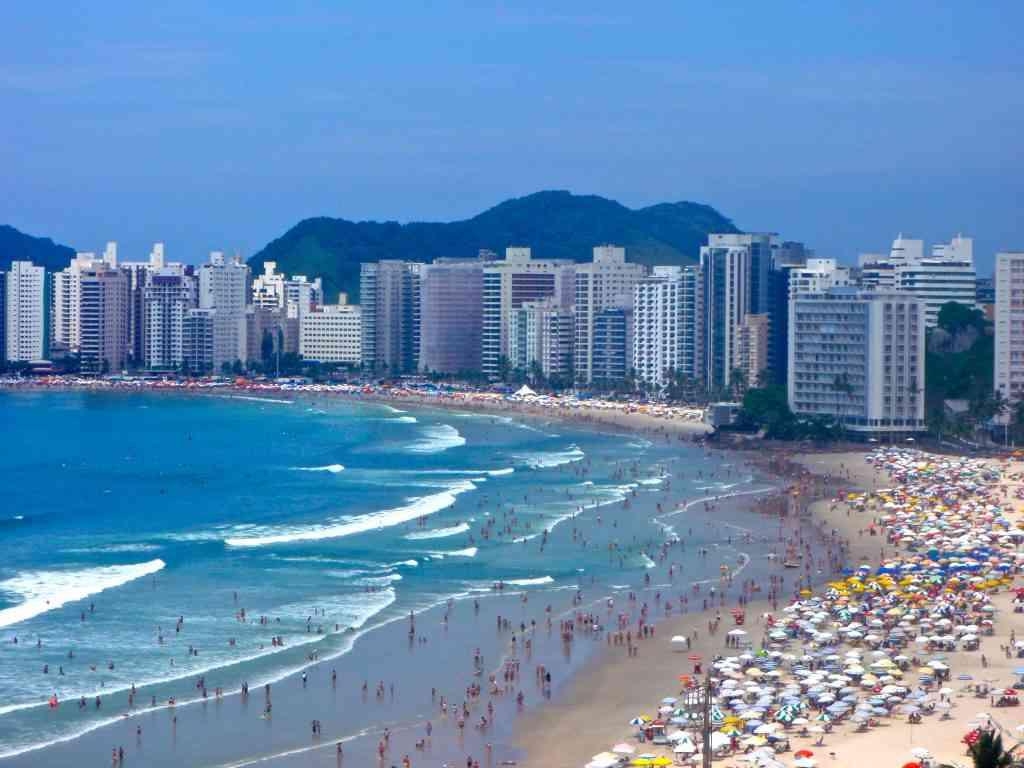 High-Rises on the Beach in Guarujá, Brazil
