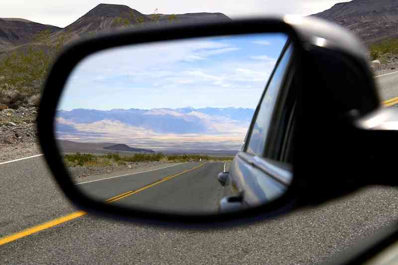Death Valley Mirror Reflection
