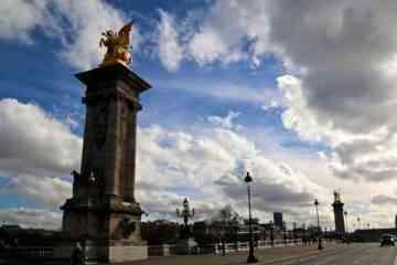 Golden Statue Guarding Pont Alexandre III