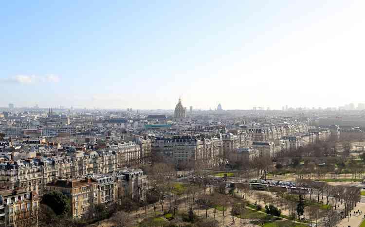 Paris Skyline view from Eiffel Tower