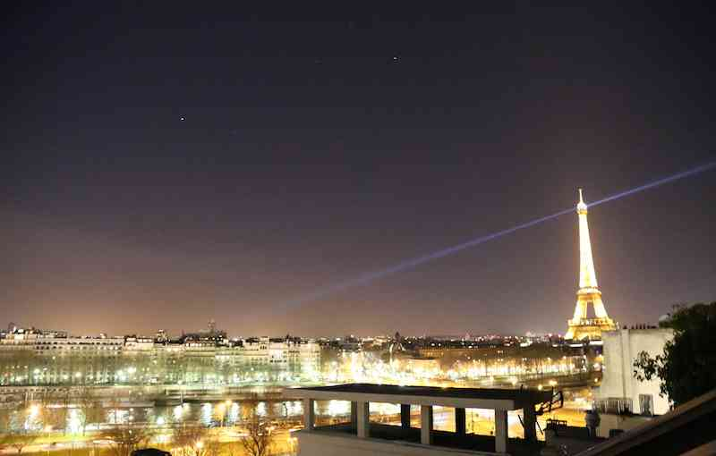 Paris at Night with Eiffel Tower