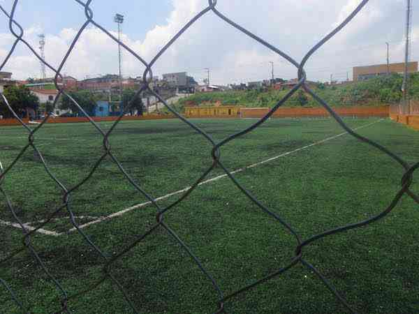 Soccer field in the favela
