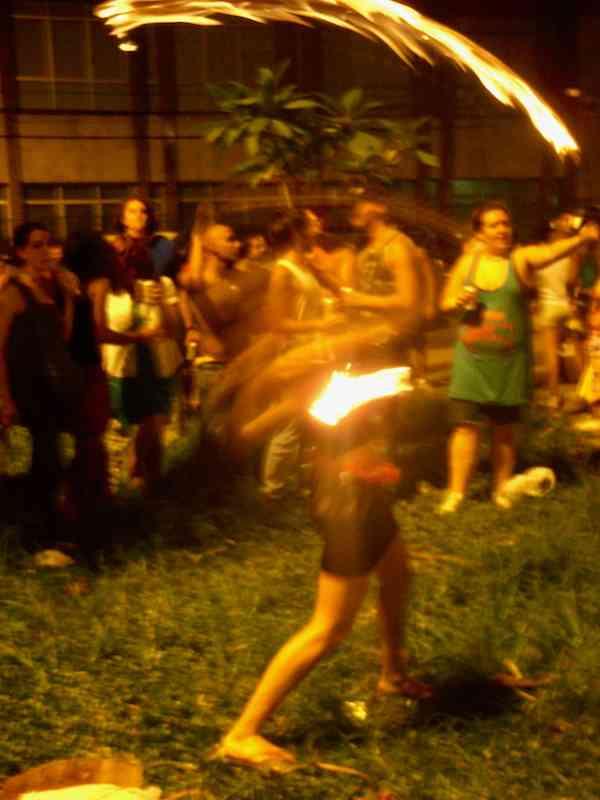 Fire Baton Girl