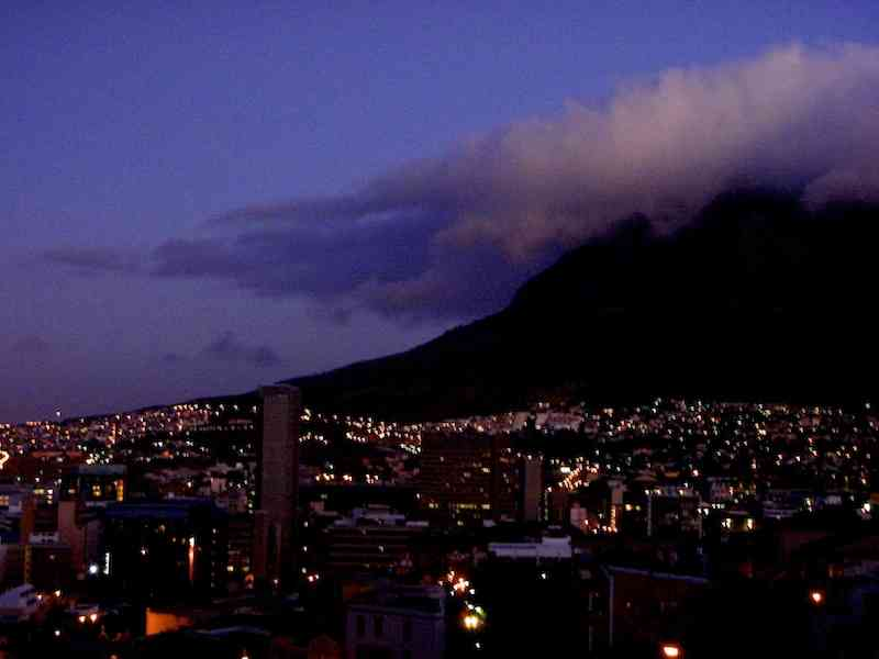 Cape Town view table mountain