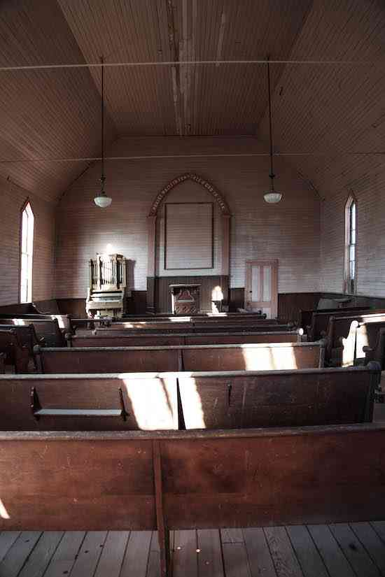 Bodie Church Interior