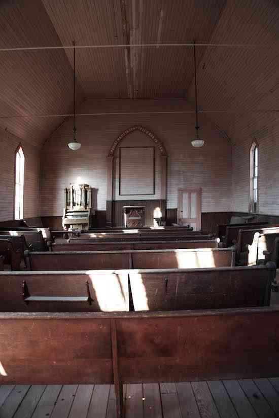 Bodie Church Interior