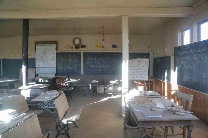 Bodie Schoolhouse Interior