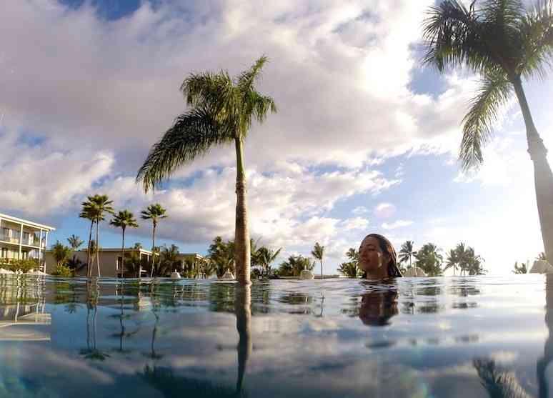 Relaxing in Andaz Maui Wailea Pool