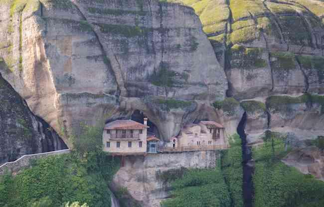 Rockface Monastery in Meteora