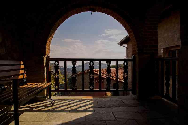 Grand Meteoron Monastery Arch View