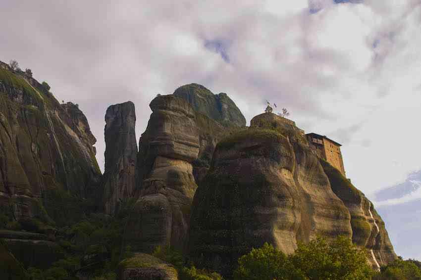 meteora cliff monastery