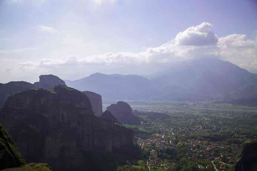Morning sun in Meteora Valley