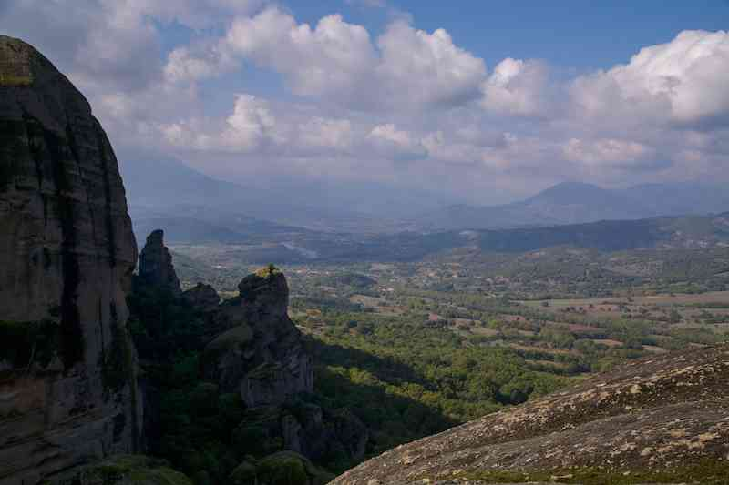 View from the top of Meteora