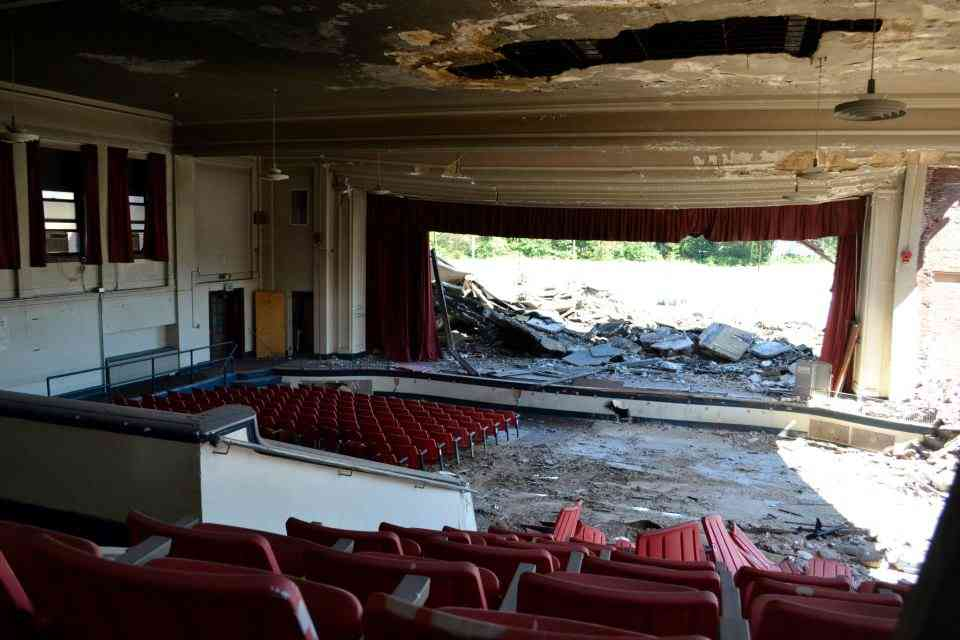 Abandoned auditorium
