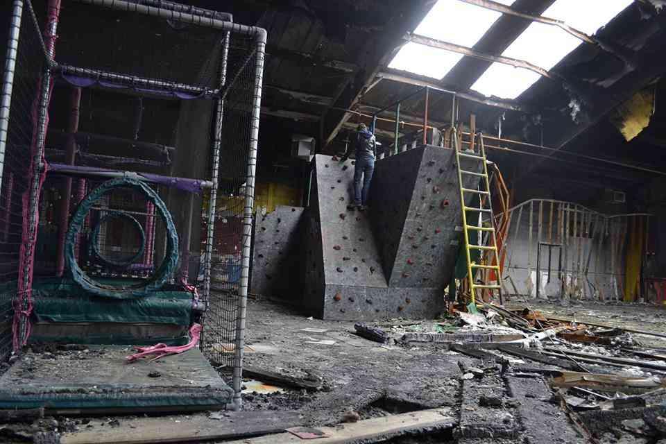 Abandoned playground