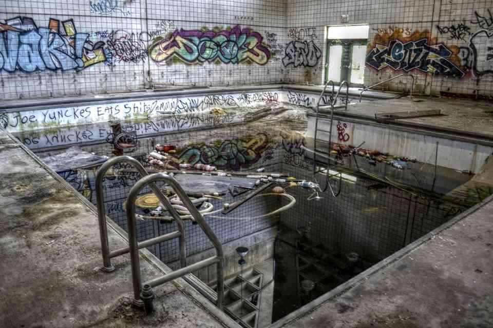 Abandoned pool