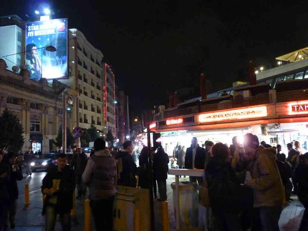 Night in Taksim Square Istanbul