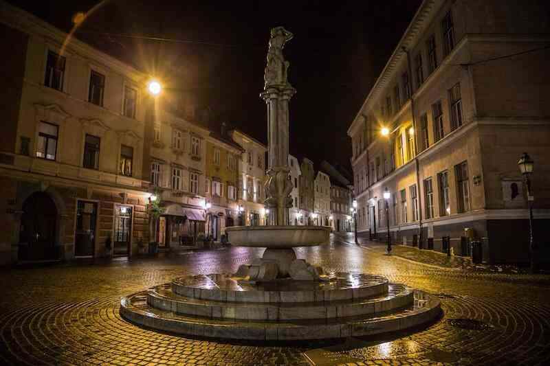LJubljana at night
