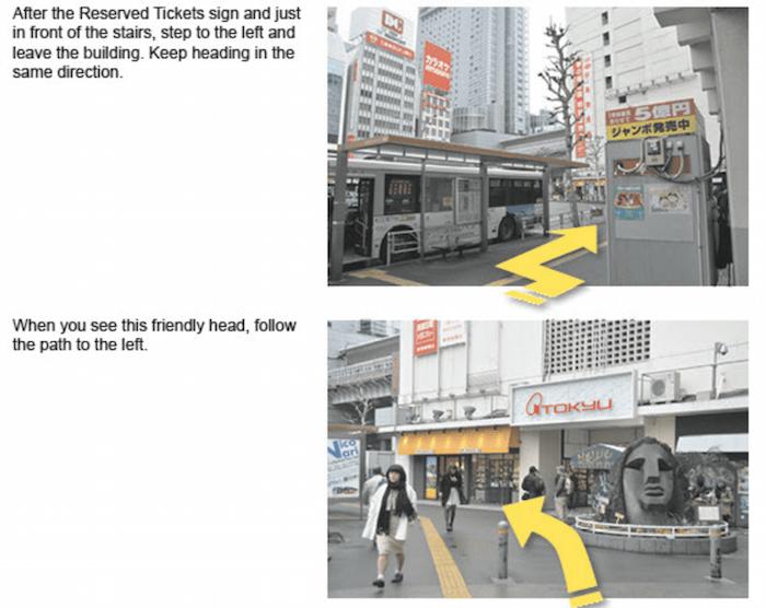 Shibuya directions