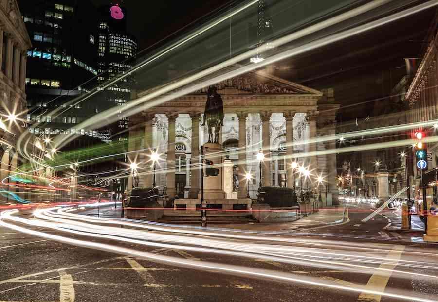 Bank London at Night 2