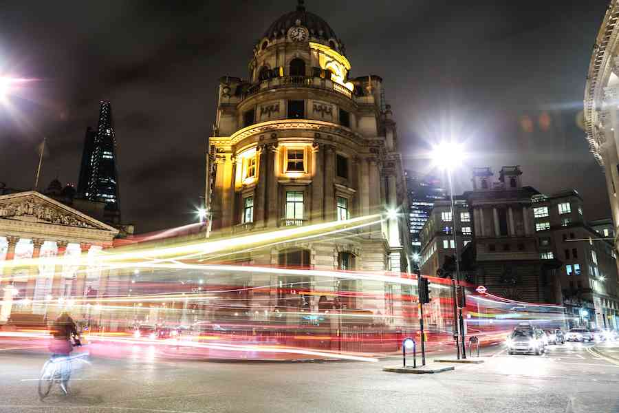 Bank London at Night