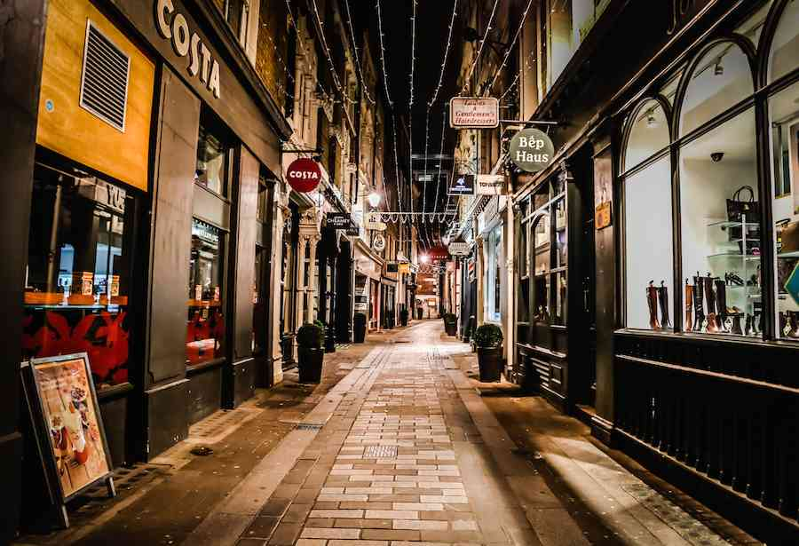 Alley in London at Night