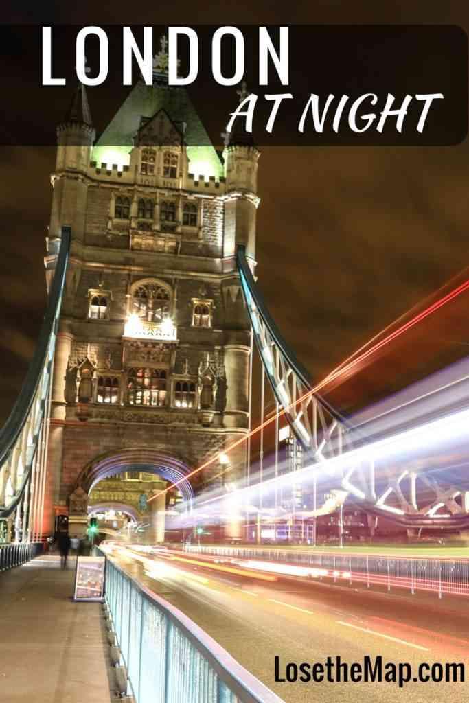 London at Night Pinterest