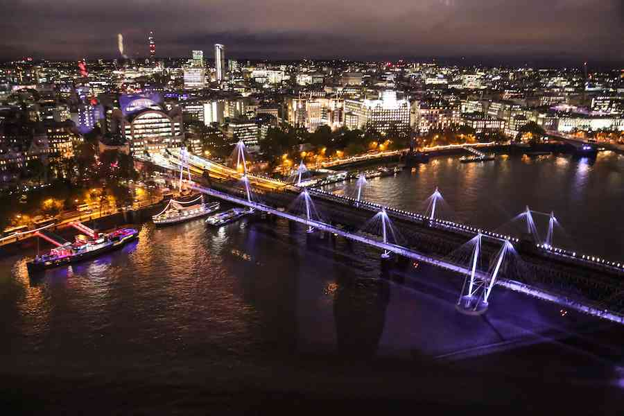 Golden Jubilee Bridges - London at Night
