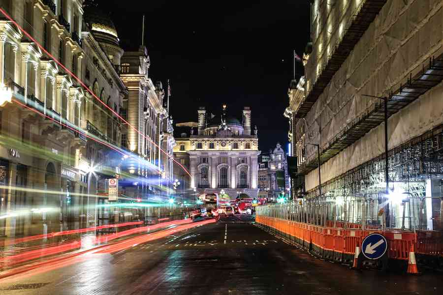 Road to Piccadilly - London at Night