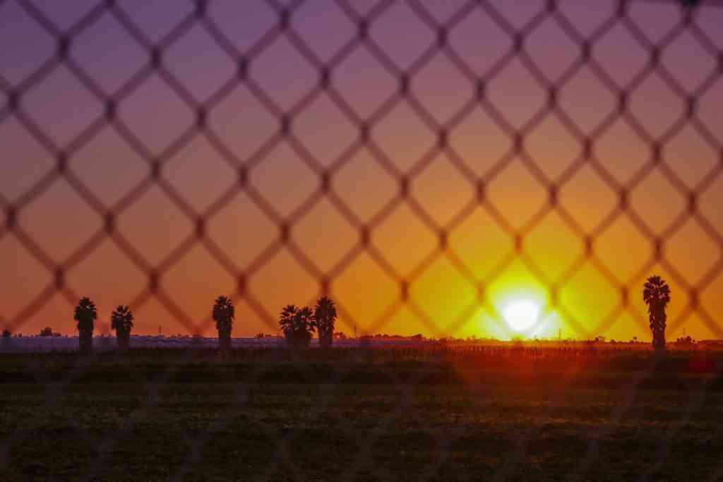 California heartland sunset