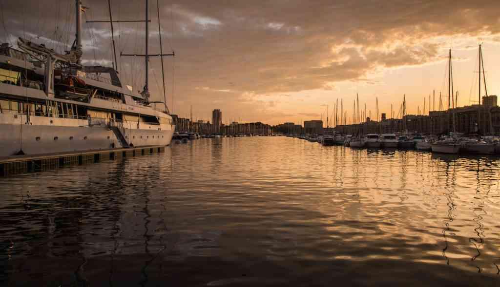 Marseilles Port Sunset