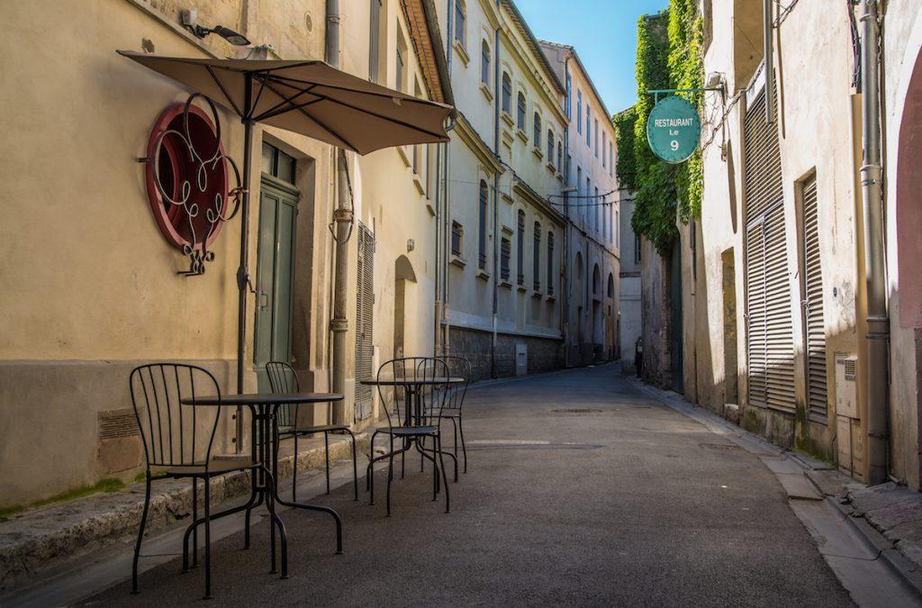 Nimes empty street