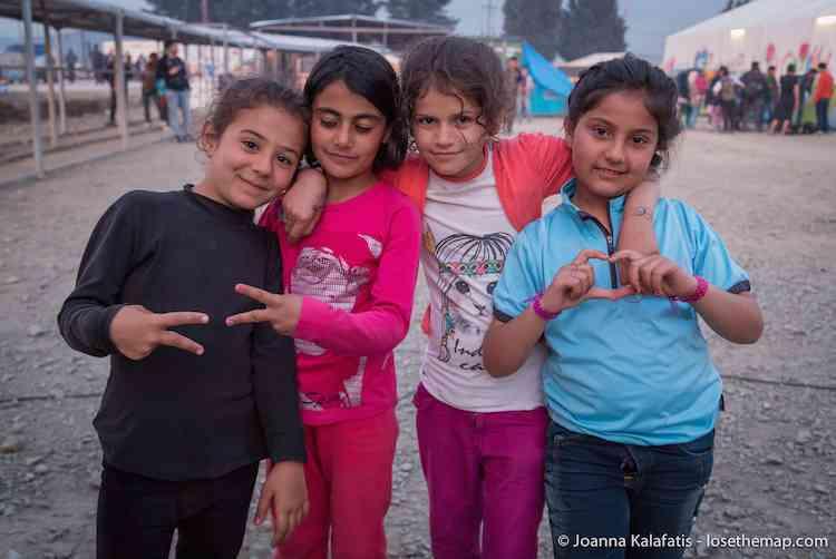 Girls of Idomeni refugee camp