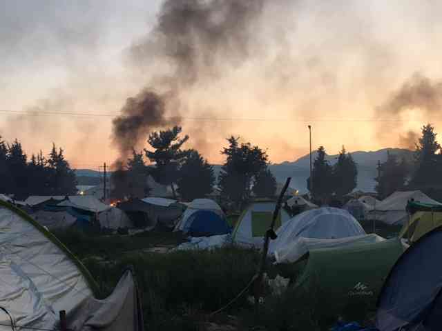 Idomeni Riot refugee camp