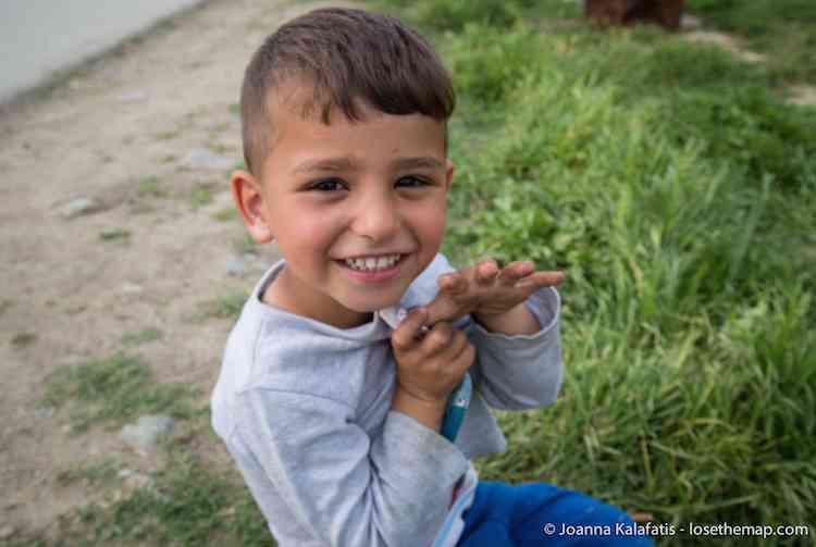 Syrian Boy refugee camp