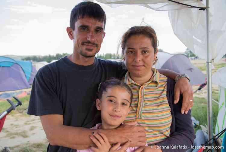 Syrian Family refugee camp