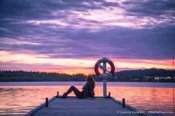 Staring at the midnight sun in Lulea, Sweden.