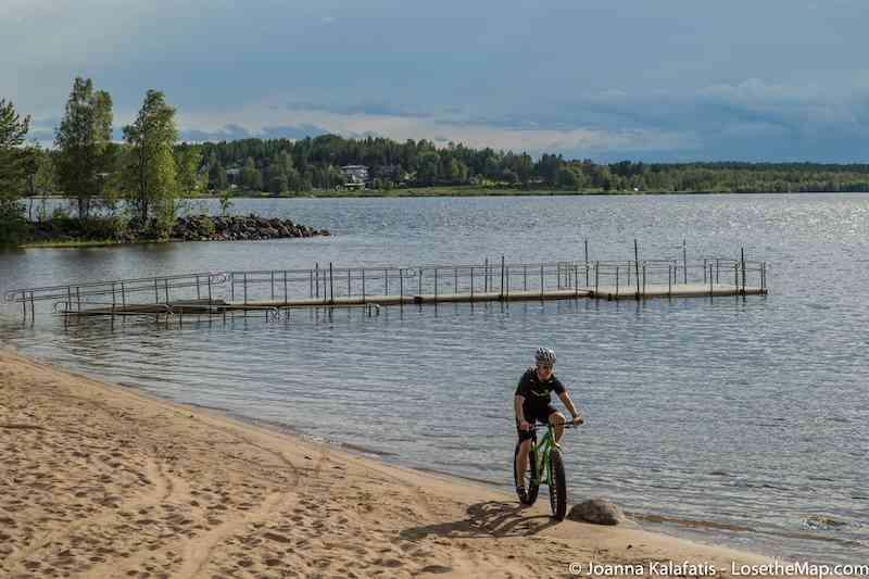 Lulea biking sand