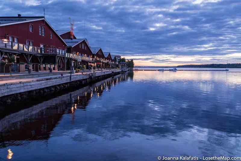 Lulea Midnight Sun reflection