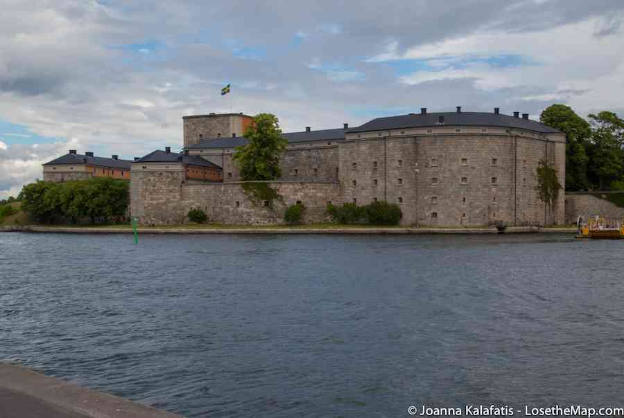 The Vaxholm Fortress, a short ferry ride across.