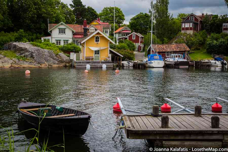 The colorful houses of Vaxholm. Seriously, how charming?