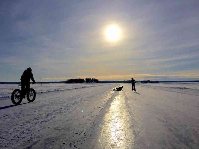 Lulea winter biking