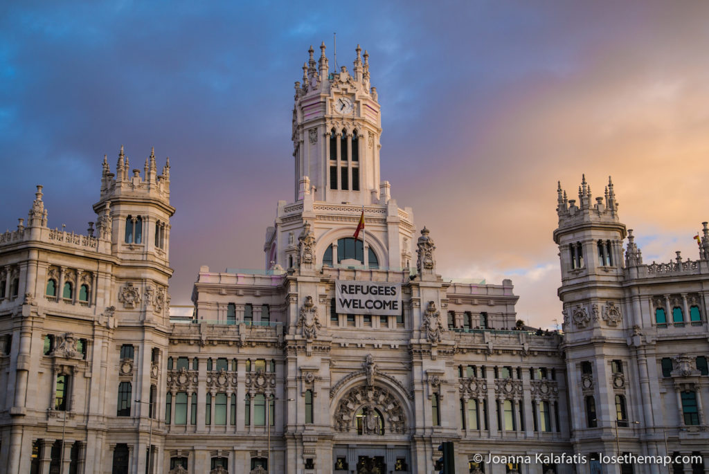 Sunset over Palacio Cibeles