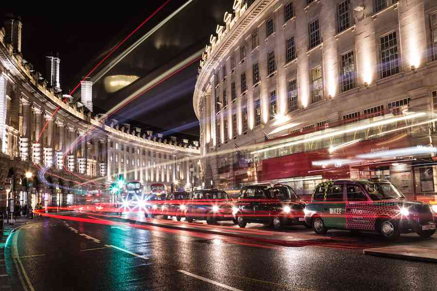 Rush hour traffic on Regent Street