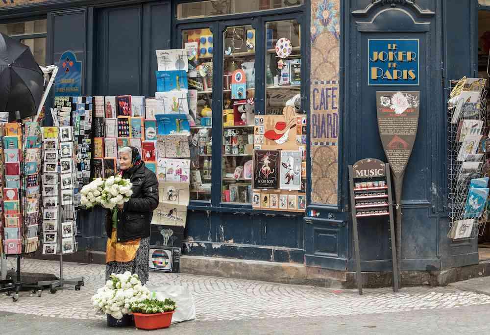 Woman vendor Rue Montorgueil