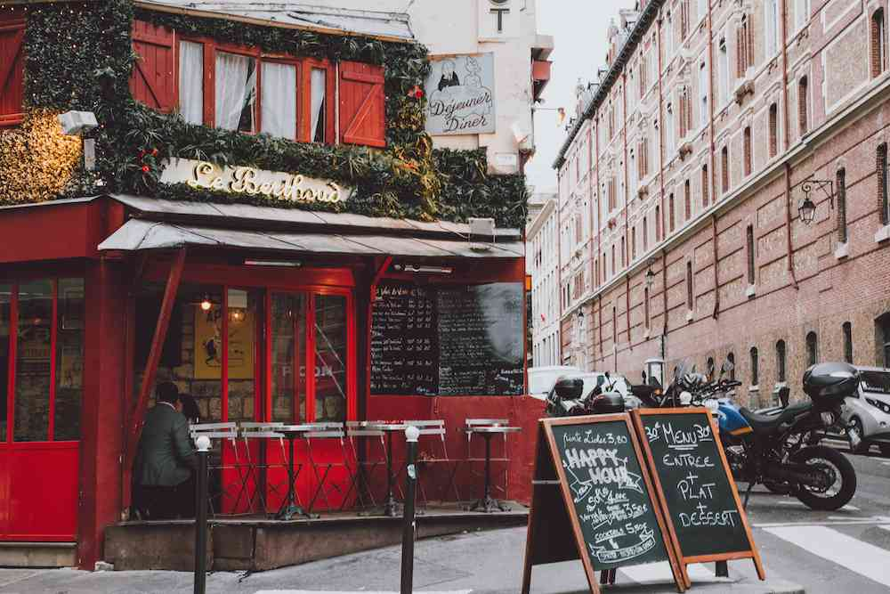 A cafe in the Latin Quarter