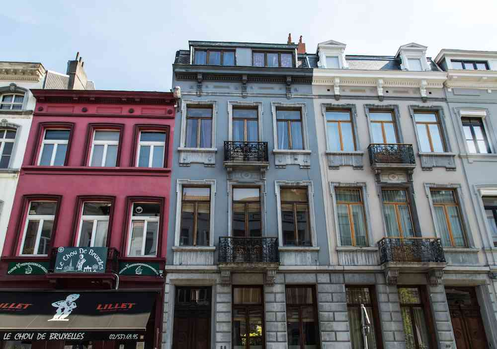 Colorful Brussels buildings