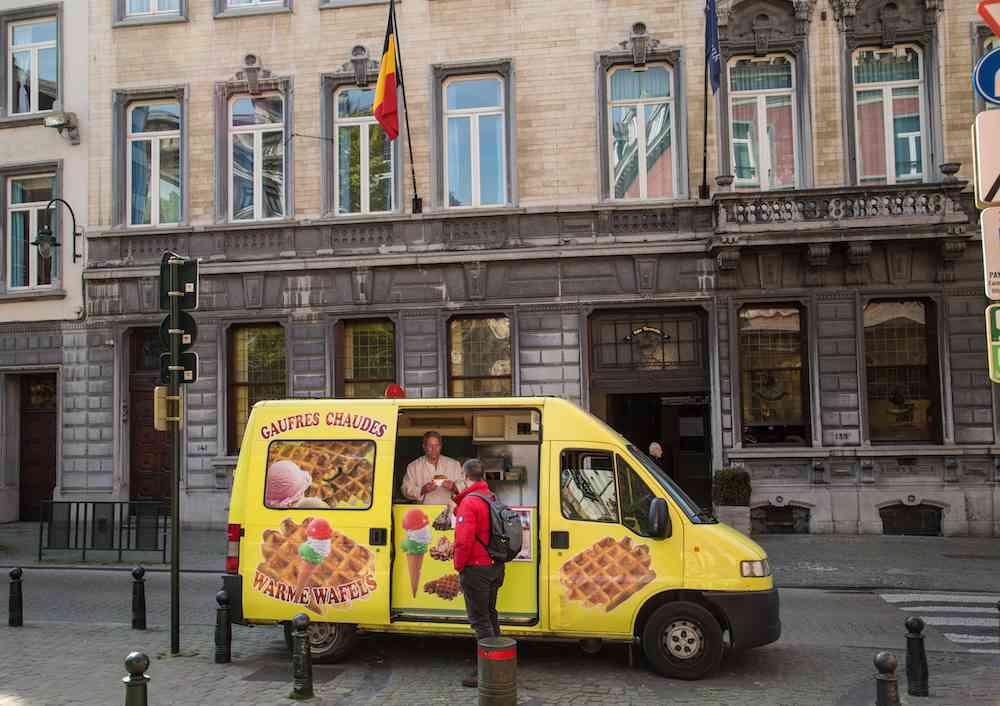 Waffle food cart