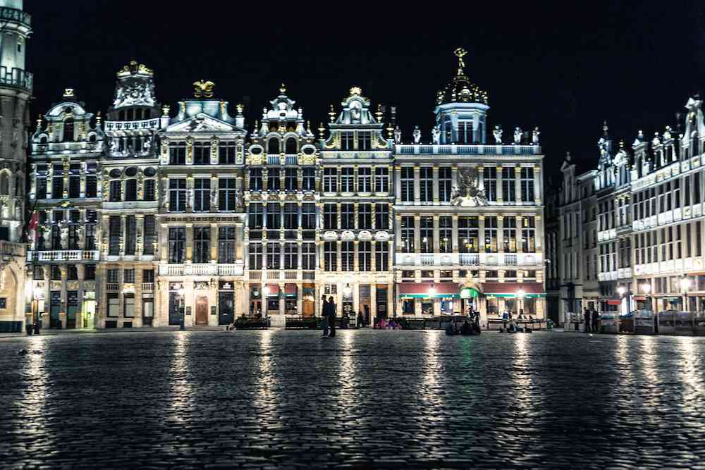 Grand Place at night - Brussels: the most underrated city in Europe